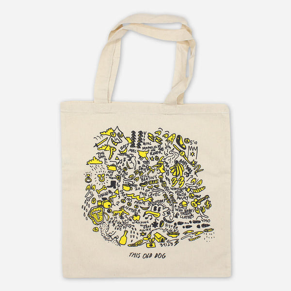 This Old Dog Natural Canvas Tote Bag by Mac DeMarco for sale on hellomerch.com