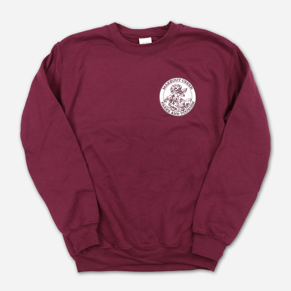 Makeout Creek Parks & Tourism Vintage Maroon Sweatshirt by Mitski for sale on hellomerch.com