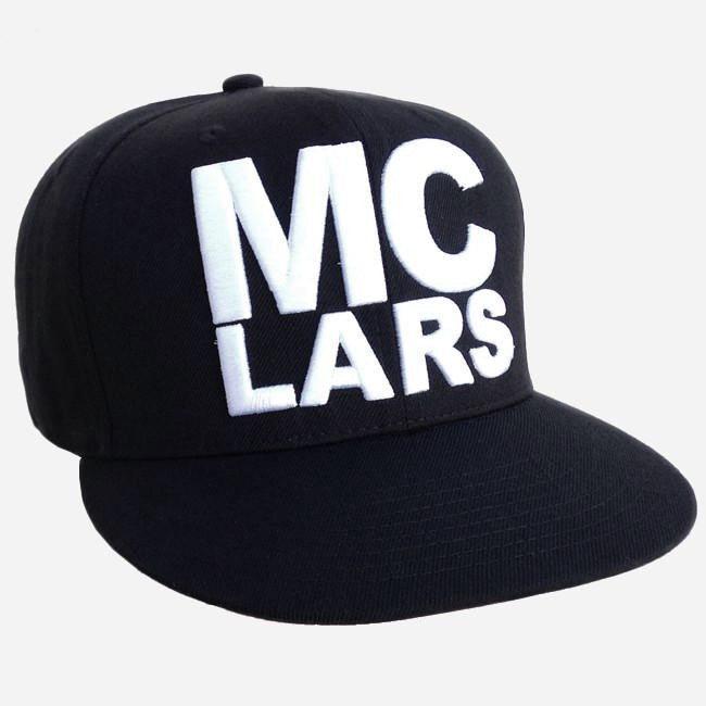 """MC Lars"" Black Embroidered Snapback Hat"