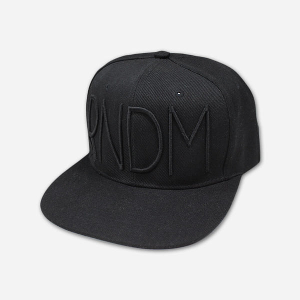 RNDM Black Snapback Hat by Mega Ran for sale on hellomerch.com