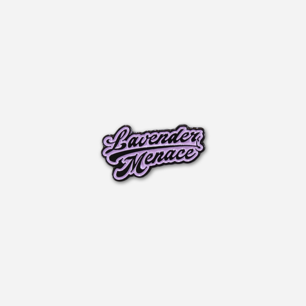 Lavender Menace Pin by Autostraddle for sale on hellomerch.com