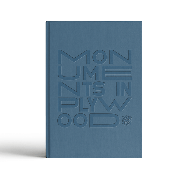 Monuments In Plywood Hardcover Book Hello Merch