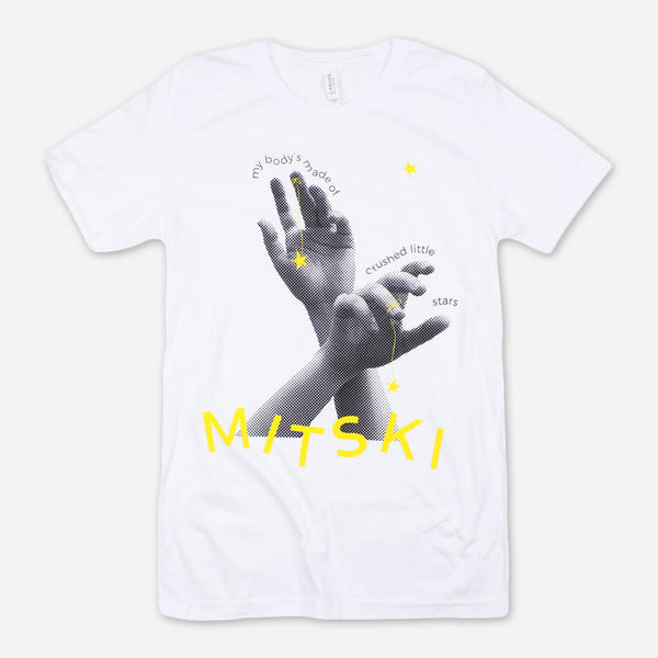 Hands White T-Shirt by Mitski for sale on hellomerch.com