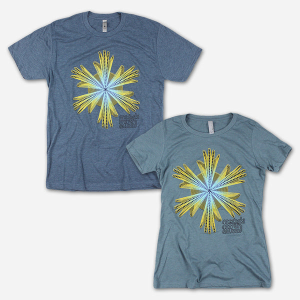 4c959fd3 Six Hands Heather Indigo T-Shirt by Medeski Martin & Wood for sale on  hellomerch