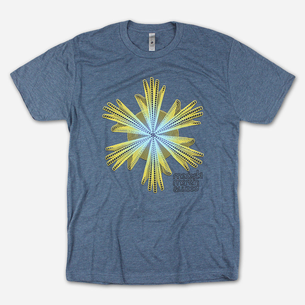Six Hands Heather Indigo T-Shirt - Medeski Martin & Wood - Hello Merch