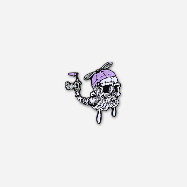 Skelicopter Pin by Mutoid Man (Band) for sale on hellomerch.com