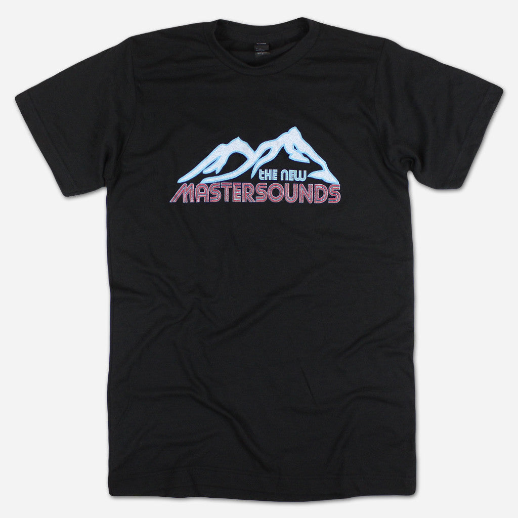 Peaks Black T-Shirt - The New Mastersounds - Hello Merch