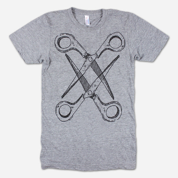 Basic Scissoring Athletic Grey Tri-Blend by Autostraddle for sale on hellomerch.com