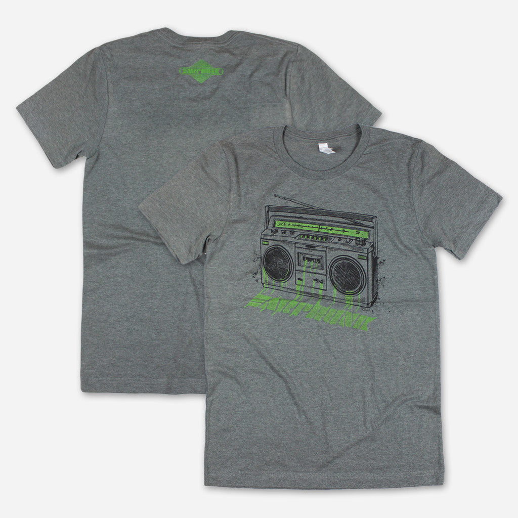 Phunkblaster 2.0 Dark Heather Grey T-Shirt - Earphunk - Hello Merch
