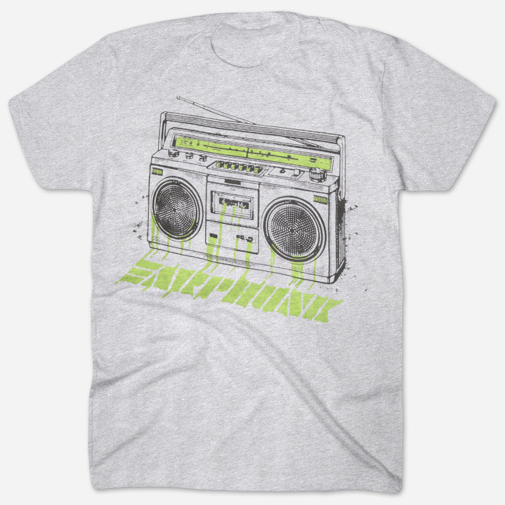 Phunkblaster 2.0 Heather Grey T-Shirt - Earphunk - Hello Merch