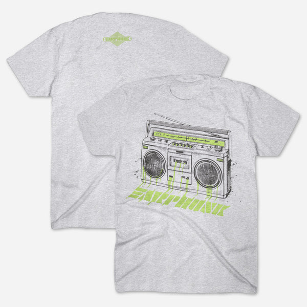 Phunkblaster 2.0 Heather Grey T-Shirt by Earphunk for sale on hellomerch.com