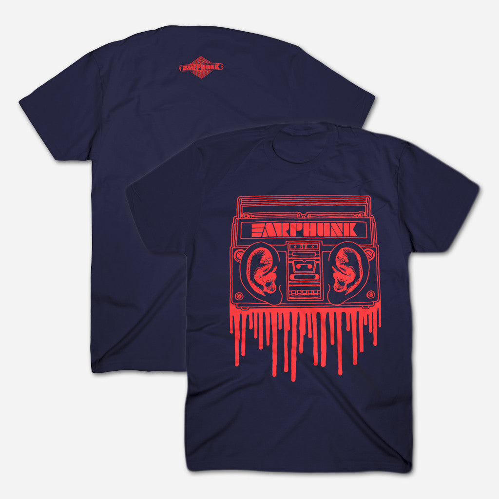 Phunkblaster 1.0 Navy T-Shirt - Earphunk - Hello Merch