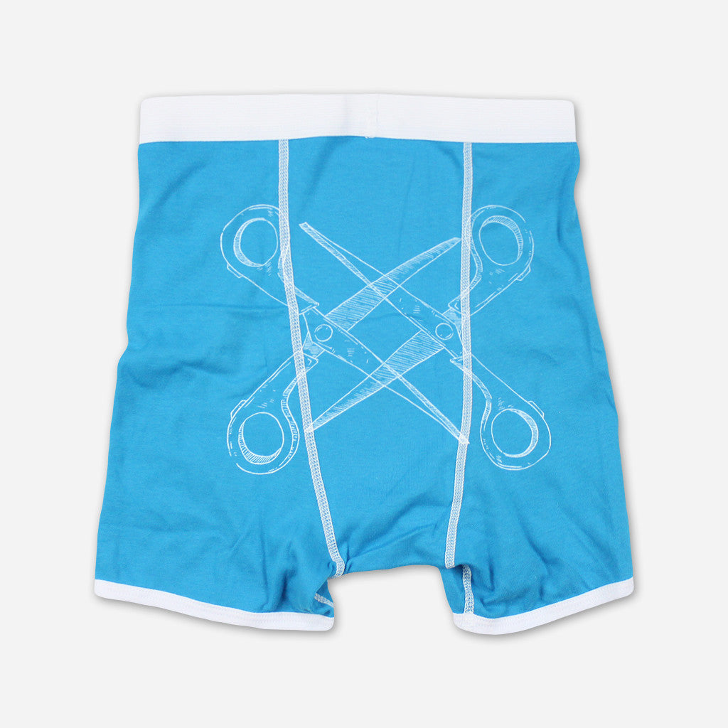 Basic Scissoring Teal Boxer Briefs