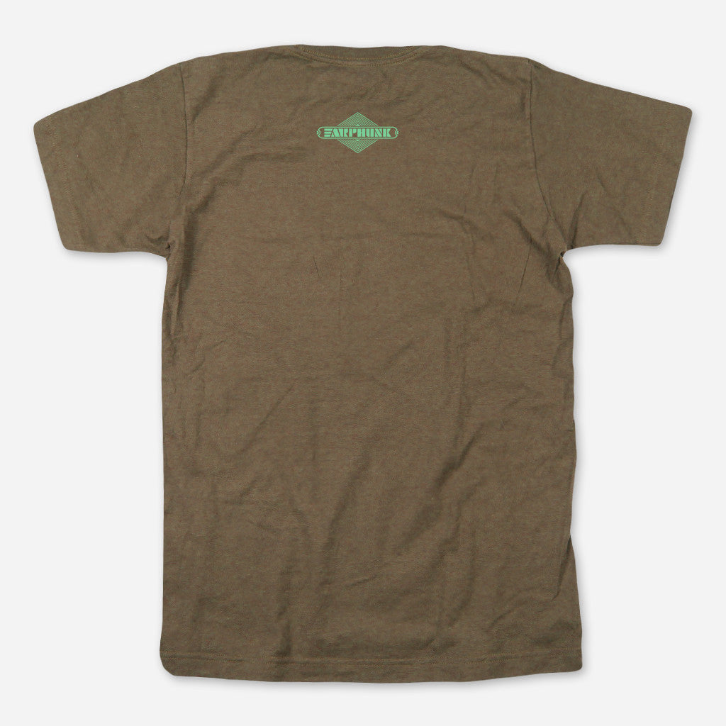 Lightning Heather Brown T-Shirt - Earphunk - Hello Merch