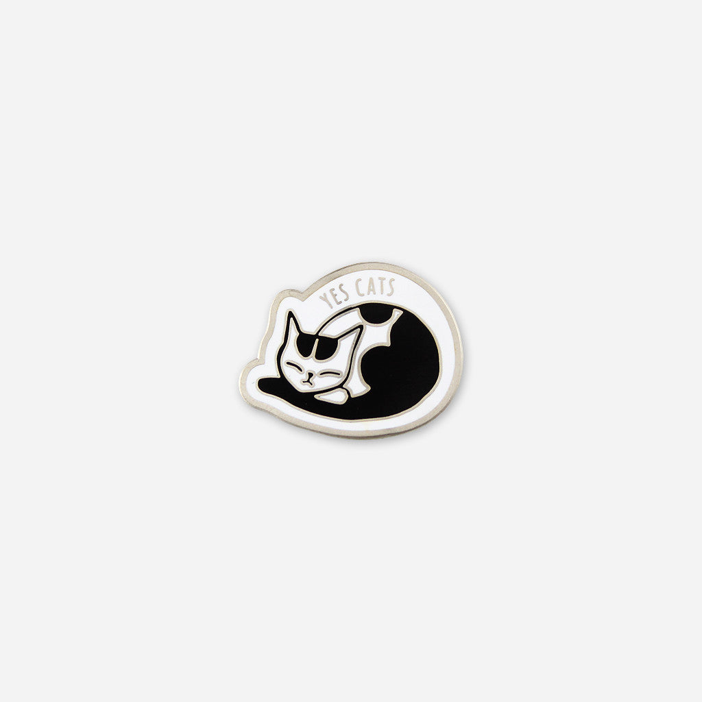 Yes Cats Pin