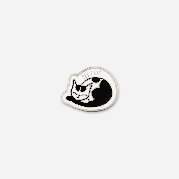 Yes Cats Pin by Autostraddle for sale on hellomerch.com