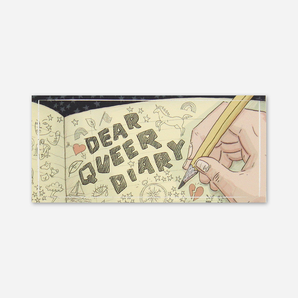 Dear Queer Diary Sticker - Autostraddle - Hello Merch