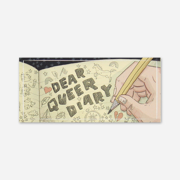 Dear Queer Diary Sticker by Autostraddle for sale on hellomerch.com