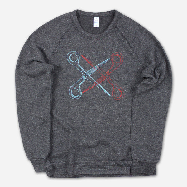 Basic Scissoring Eco-Black Champ Sweatshirt by Autostraddle for sale on hellomerch.com