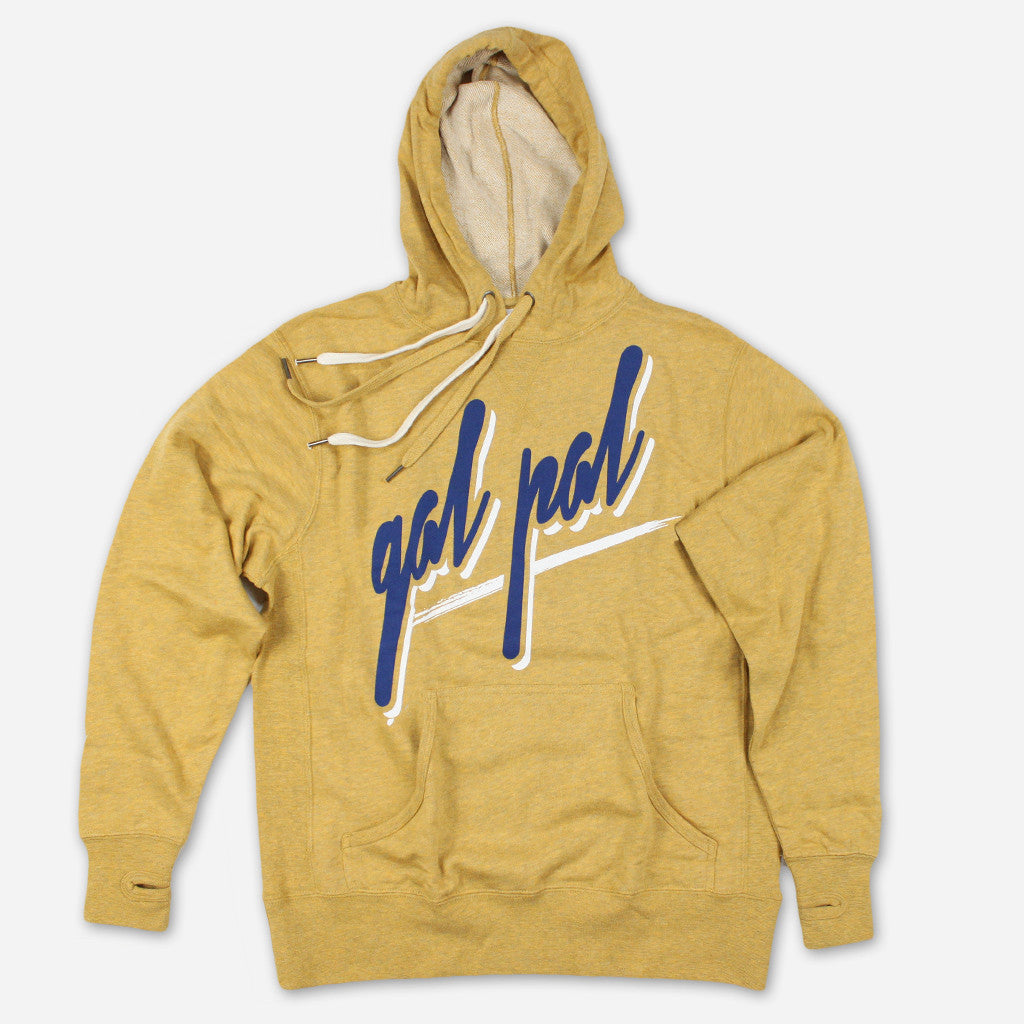 Gal Pal Golden Heather Hooded Sweatshirt - Autostraddle - Hello Merch