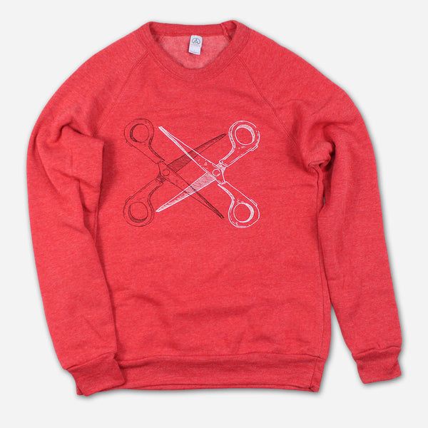 Basic Scissoring Eco-Red Champ Sweatshirt by Autostraddle for sale on hellomerch.com