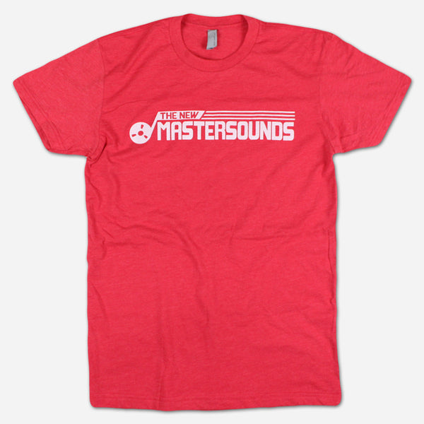 Tape Reel Red T-Shirt by The New Mastersounds for sale on hellomerch.com