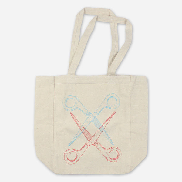Basic Scissoring Heavy Duty Tote Bag by Autostraddle for sale on hellomerch.com
