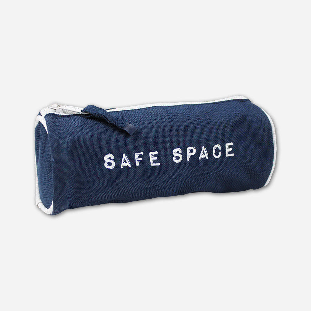 Safe Space Navy Zip Bag