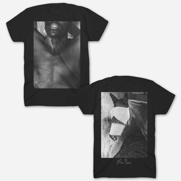 Horseback Black T-Shirt by Moses Sumney for sale on hellomerch.com