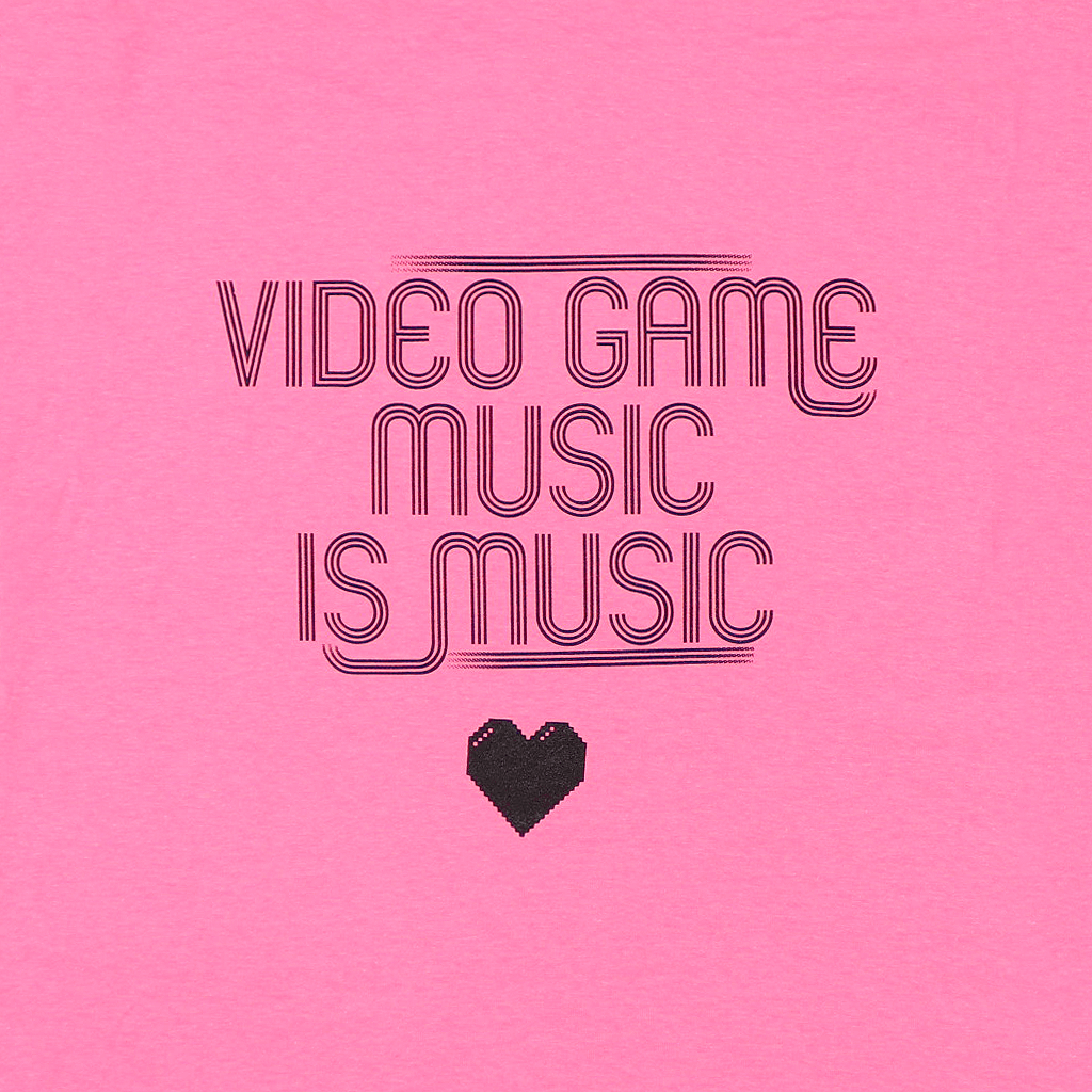 Video Game Music Neon Pink T-Shirt