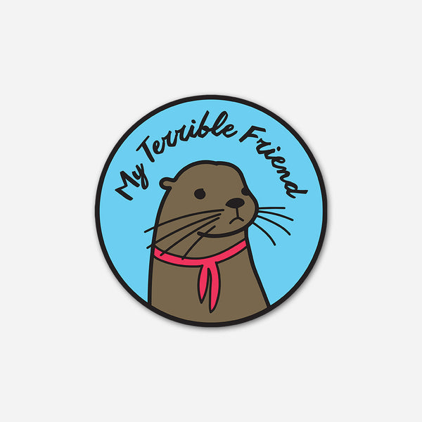 Sad Otter Pin by My Terrible Friend for sale on hellomerch.com