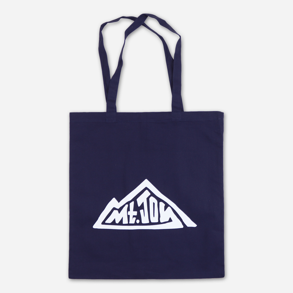 Mountain Navy Tote Bag