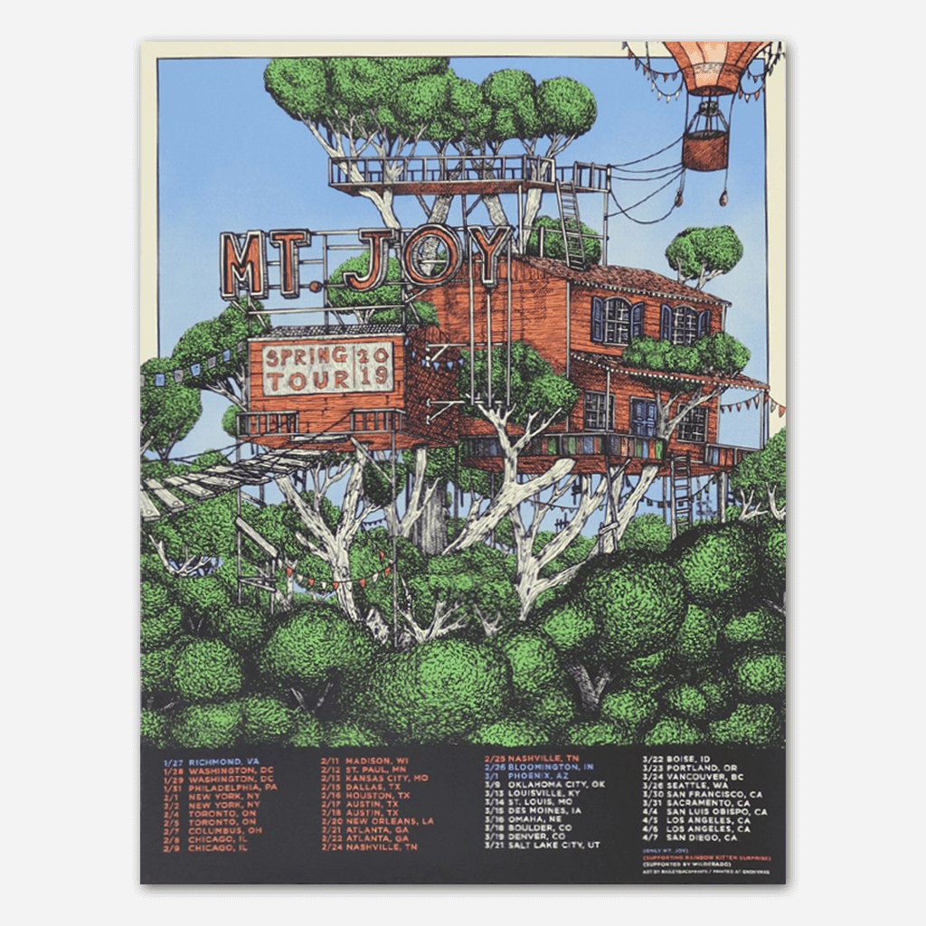 2019 Signed Spring Tour Poster - Mt. Joy - Hello Merch