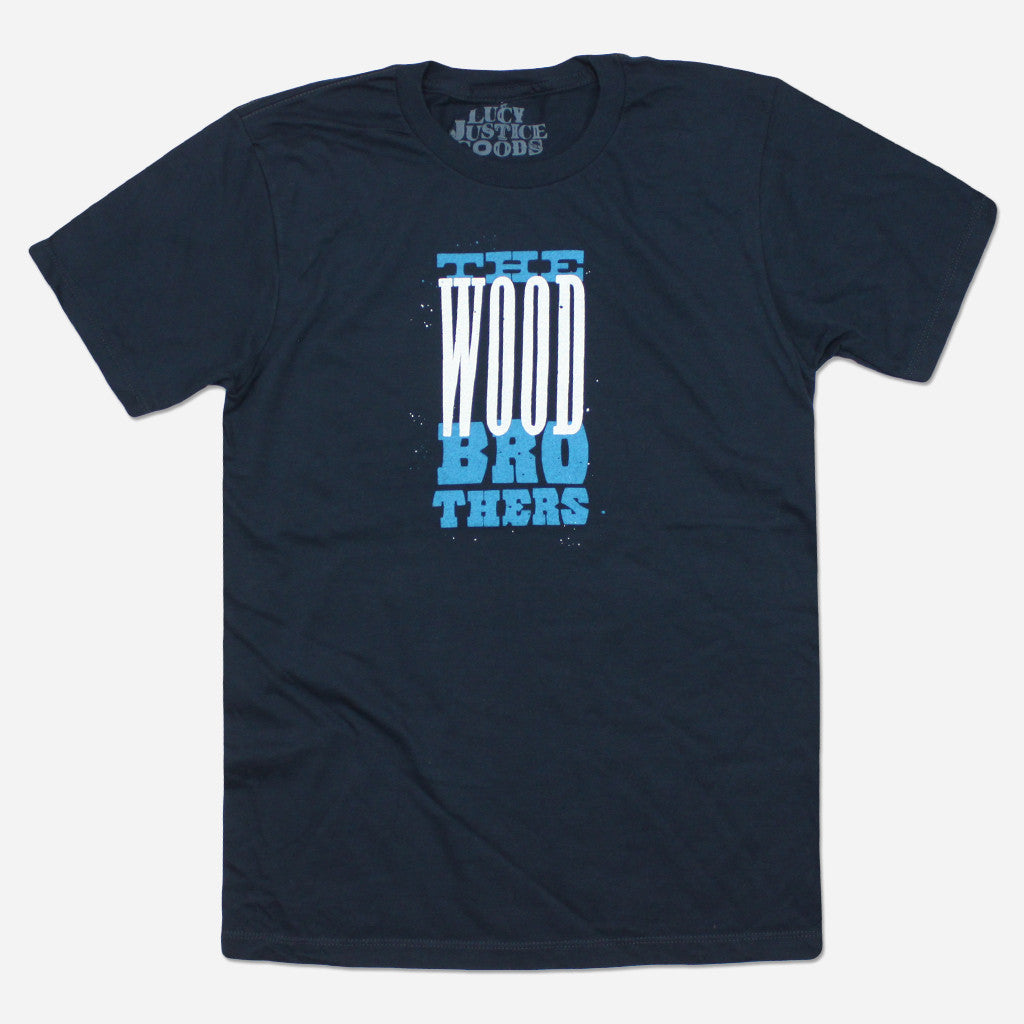 Blue Wood Navy T-Shirt - The Wood Brothers - Hello Merch