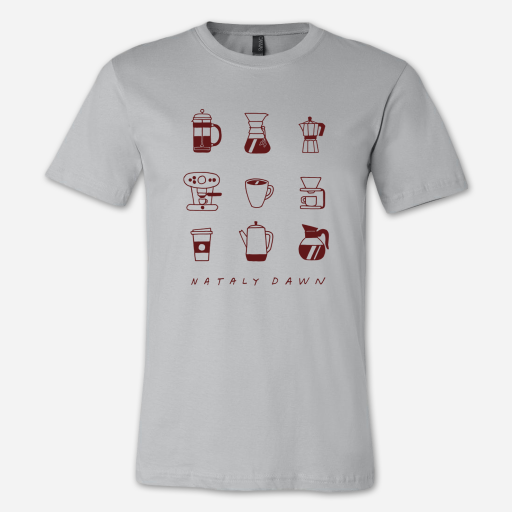 Coffee Baby Silver T-Shirt