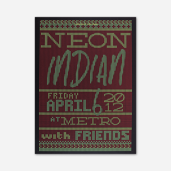 2012 Metro / Chicago IL Poster by Neon Indian for sale on hellomerch.com