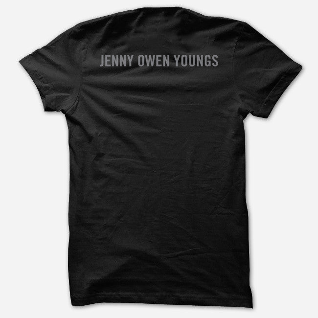 Never Apologize Never Surrender Black T-Shirt - Jenny Owen Youngs - Hello Merch