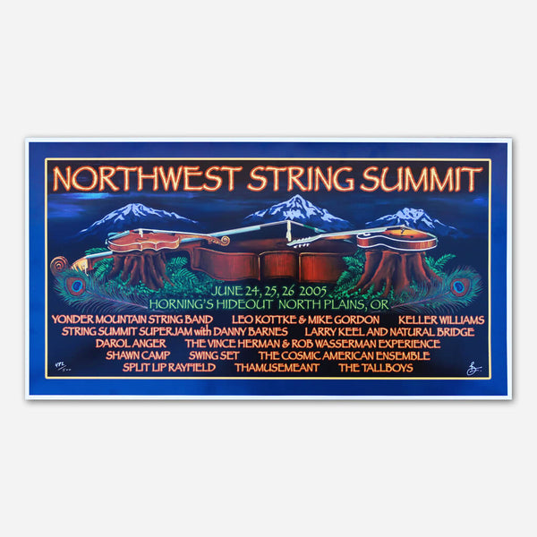 2005 Poster by Northwest String Summit for sale on hellomerch.com