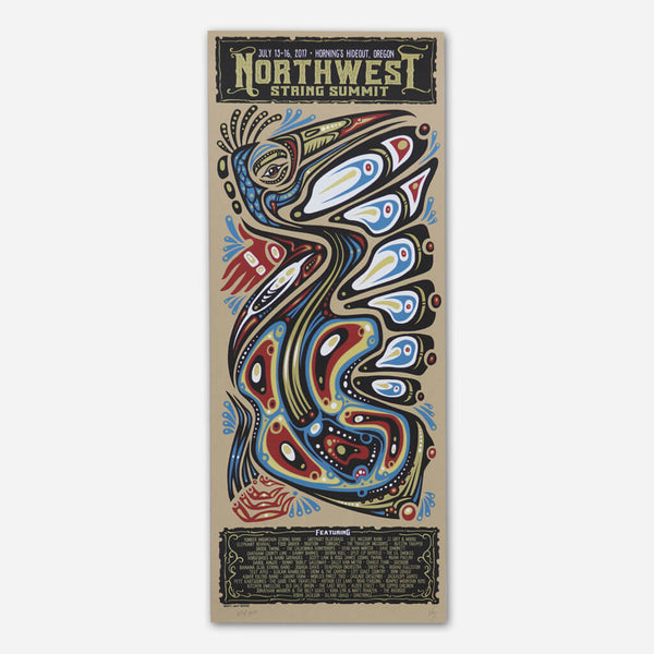 2017 Poster by Northwest String Summit for sale on hellomerch.com