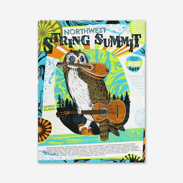 2018 Poster by Northwest String Summit for sale on hellomerch.com