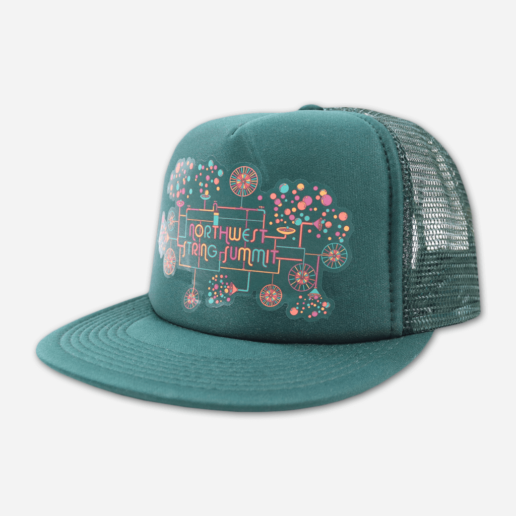 Bubble Machine Snapback Green Hat