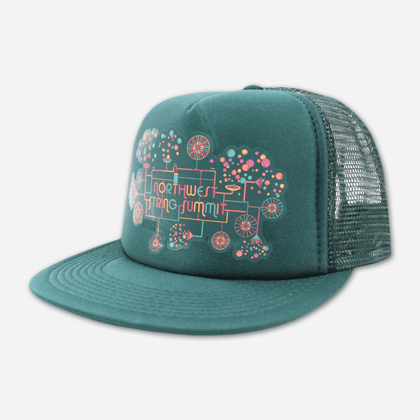 Bubble Machine Snapback Green Hat by Northwest String Summit for sale on hellomerch.com