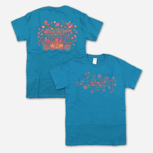Bubble Machine Aqua T-Shirt by Northwest String Summit for sale on hellomerch.com