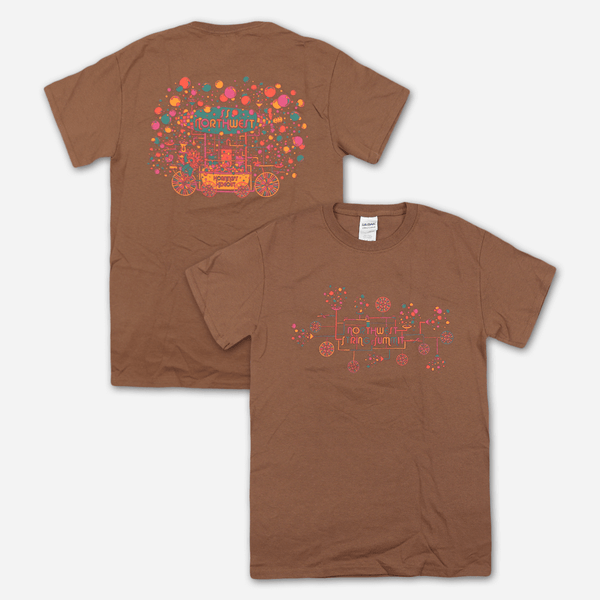 Bubble Machine Brown T-Shirt by Northwest String Summit for sale on hellomerch.com
