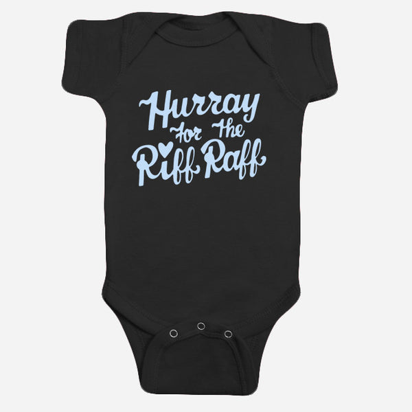 HFTRR Babies Black One-Piece by Hurray for the Riff Raff for sale on hellomerch.com