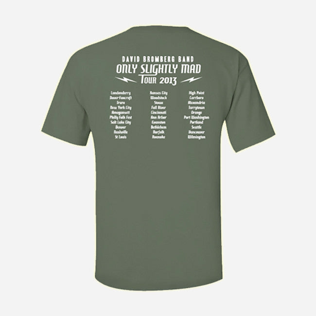 Only Slightly Mad Tour Fatigue Green T-Shirt