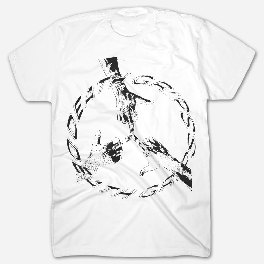 Peace Tour White T-Shirt - Death Grips - Hello Merch