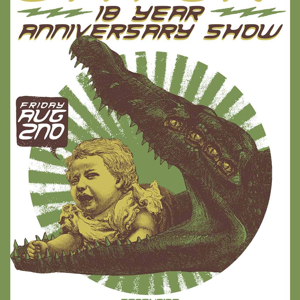 President Gator 18 Year Anniversary Show Poster