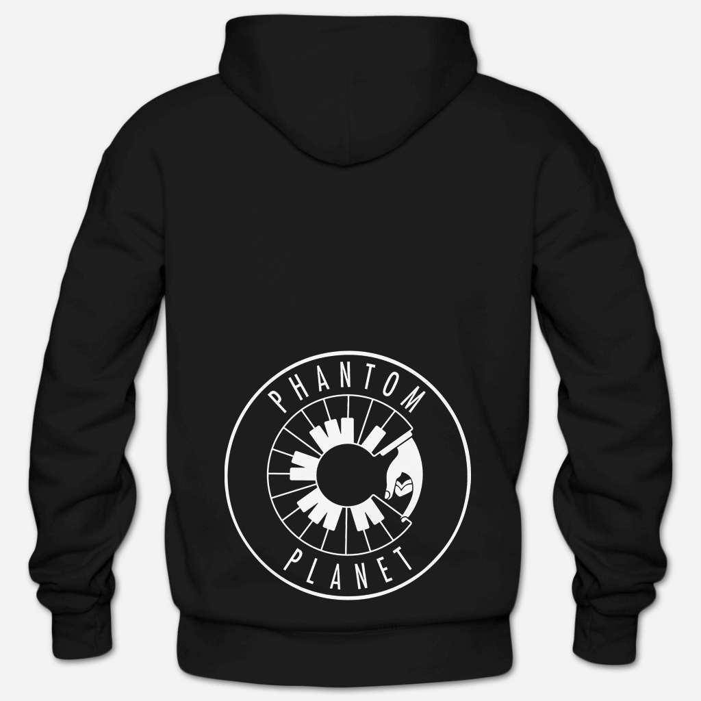 Phantom Planet Glow In The Dark Black Hooded Sweatshirt