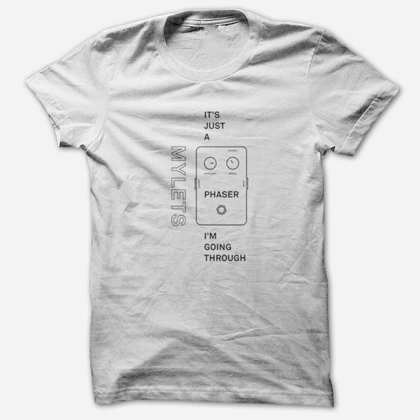 It's Just A Phaser White T-Shirt by Mylets for sale on hellomerch.com